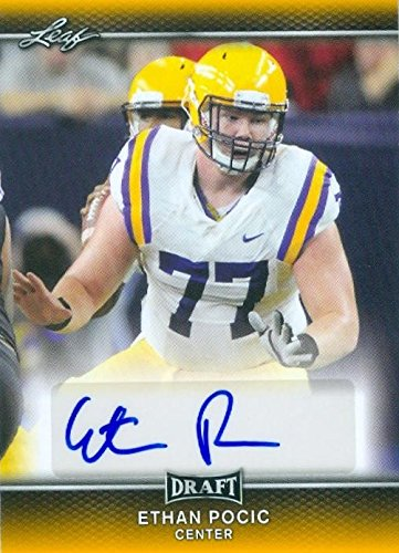 hot sale online 6a236 a68bd Ethan Pocic autographed Football Card (LSU Tigers) 2017 Leaf ...