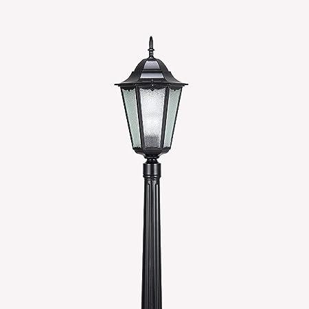 Ver Victoria Villa lámpara camino paisaje jardín exterior polo luz piso antigüedad europea columna vidrio prueba agua lámpara linterna aluminio alta Polo E27Decor anuncio Farola Yard Ruta luz antorcha: Amazon.es: Hogar