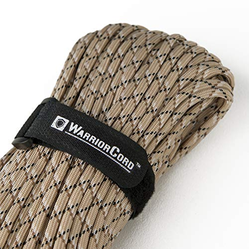 TITAN WarriorCord | DESERT-CAMO | 103 CONTINUOUS FEET | Exceeds Authentic MIL-C-5040, Type III 550 Paracord Standards. 7 Strand, 5/32 (4mm) Diameter, Military Parachute Cord.
