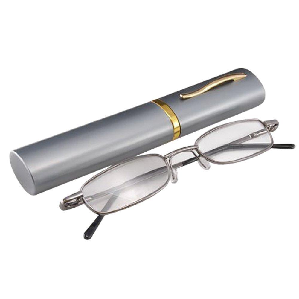 THG Gray caja de la pluma 2.00 gafas de lectura