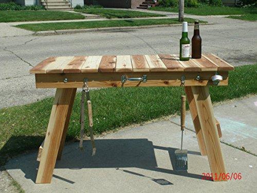 Portable folding solid cedar table