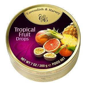 Cavendish & Harvey Tropical Fruit Drops 7 oz. Tin (1 tin)