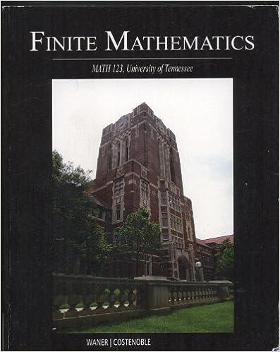 Finite Mathematics, Math 123, University of Tennessee