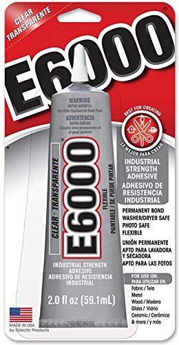 Eclectic Products 237032 6 Pack E-6000 Craft Adhesive Tube, Clear, - Oz Tube 2 Glue Craft