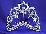 Miss Universe Pageant Rhinestone Crystal Pearl Tiara Crown Replica MSU