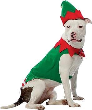 Amazon.com: Disfraz de duende de la Navidad Perro, XL, Verde ...