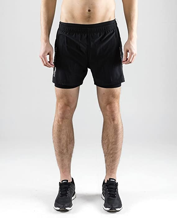 CRAFT ESSENTIAL PANTS 2-in-1 SHORTS 2019 Herren Laufhose Running Shorts 1906028