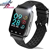 1.54' Smartwatch Sport Fitness Tracker for Women Men with Blood Pressure Heart Rate Monitor Kid Health Monitor Activity Tracker Watch Pedometer Calorie BT Call SMS Camera Music Holiday Bithday Gift