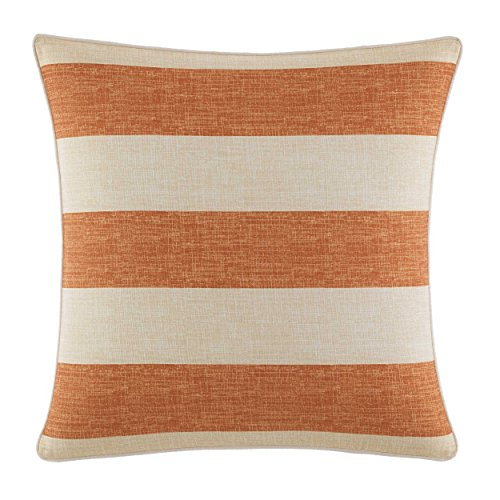 Tommy Bahama Palmiers Printed Stripe Throw Pillow 18x18 Dark Orange - Bedding Stripe Awning