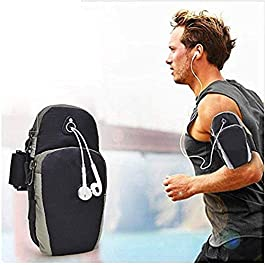 BOKA® Sports Armband Pouch/Arm Belt – Universal Waterproof Hand Fitness Mobile Case for Running Hiking Jogging Sports & Gym Activities for All Android and iOS Mobile Phones(Up to 6.5inch)