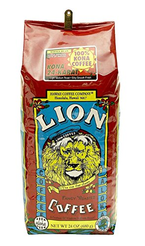 Lion 100% Pure Kona Coffee 24 Oz. Whole Bean