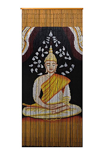 - Beaded Bamboo Curtain-Buddha