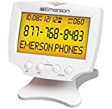 emerson caller id - Emerson EM60 Large Display Talking Caller ID Box With 60 Numbers Memory