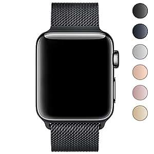 Funda para Apple Watch Band 38 mm 42 mm, Milanese Loop Reemplazo Metal iWatch Band para Apple Watch Series 3 2 1