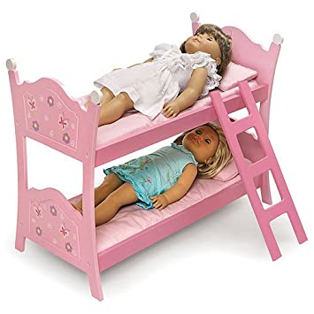 Amazon Com Badger Basket Doll Bunk Bed With Ladder Blossoms