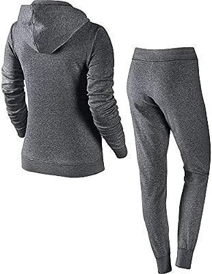 Nike W NSW TRK Suit FLC - Chándal, Mujer, Gris(Charcoal Heathr ...