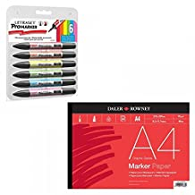 Letraset Promarker Vibrant Tones and A4 Marker Pad Set by Letraset
