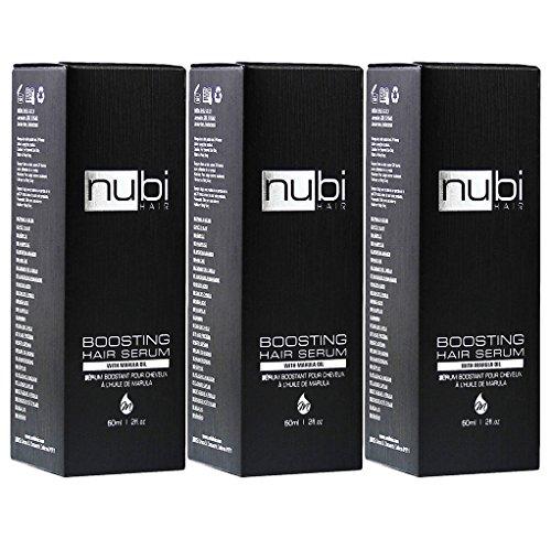 Nubi Boosting Hair Serum with Marula Oil, Vitamin E and Aloe