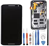 Unifix LCD Touch Screen Digitizer + Frame Assembly for Motorola Moto X 2nd Gen XT1092, XT1095, XT1097 + Repair Tools