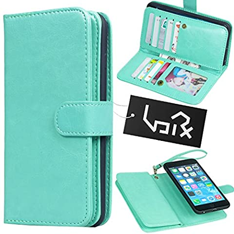 Urvoix For Apple iPhone 6 Plus / 6S Plus (5.5''), Wallet Leather Flip Card Holder Case, 2 in 1 Detachable Magnetic Back Cover iPhone6 Plus / iPhone6S Plus (NOT for (Iphone6 Plus Case Card Holder)