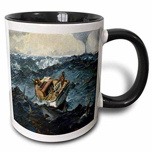 3dRose 196343_4 Print Of Vintage Winslow Homer Painting The Gulf Stream Mug 11 oz Black