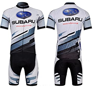 2015 Outdoor Sports Pro Subaru White Cycling Jerseys Shirts Short Sleeve  Suit Men s Bicycle Team Ciclismo Maillot Clothing (Suit 21f7d8505