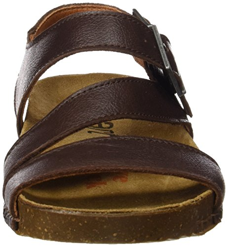 ART 0999 Memphis I Breathe, Zapatillas de Estar por Casa con Talón Abierto Unisex Adulto Marrón (Brown)