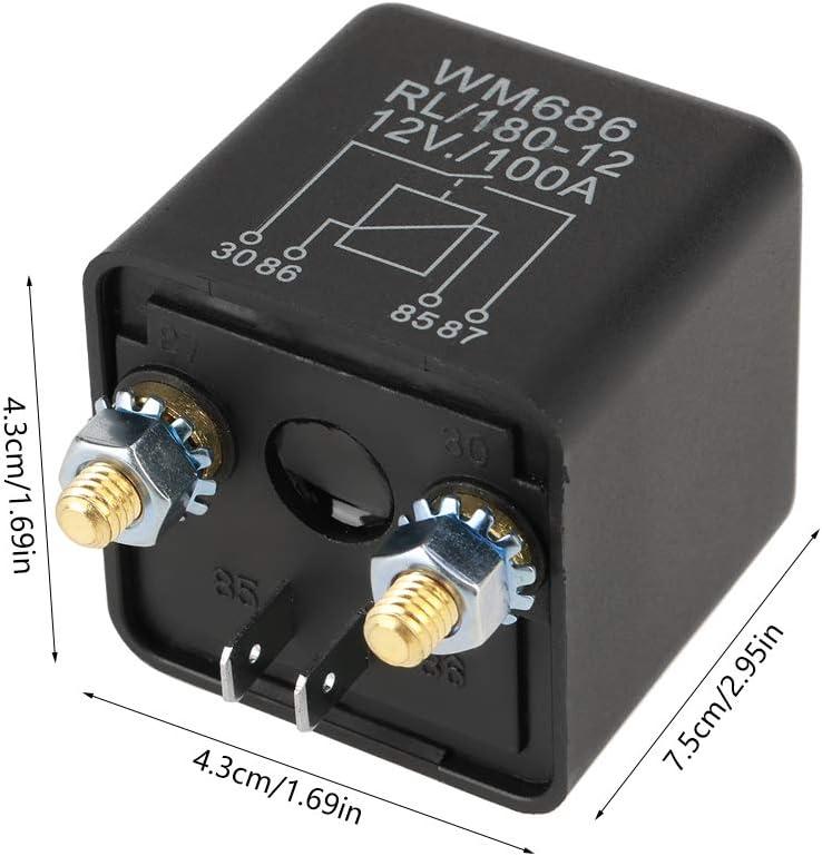 Relais de d/émarrage de voiture 12 V 100 A pour batterie de contr/ôle marche//arr/êt