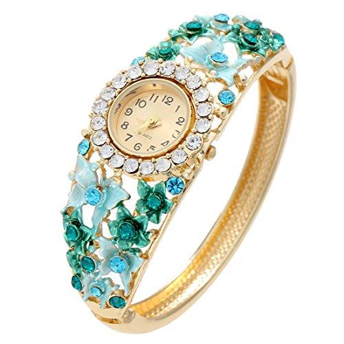 Bangle Watch for Women Butterfly Crystal Dress Crystal wrist (Versace Clock)