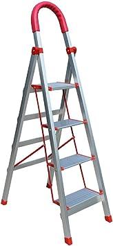 C-J-Xin Las escaleras de metal, cuatro pasos familia Escalera escuela/empresa/tienda de flores hebilla de seguridad Diseño Las escaleras de tijera/Escalera/Altura plegado: 152 Cm Escalera de c: Amazon.es: Bricolaje y herramientas