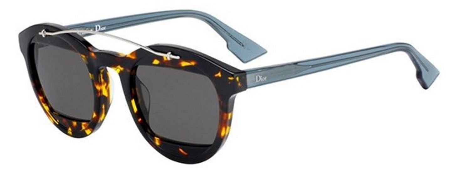 c7bb8cd854 Amazon.com  New Christian Dior MANIA 1 TV9 IR Dark Havana Light Blue Grey  Sunglasses  Clothing