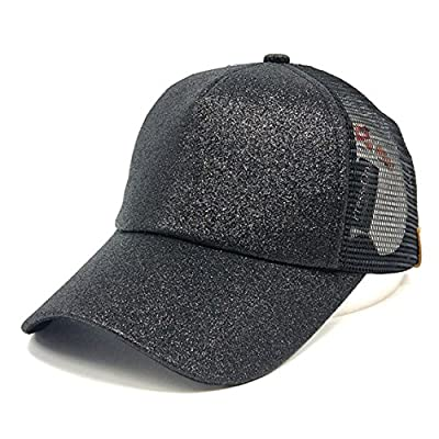 Nadition Baseball Cap Clearance ? Women Ponytail Baseball Cap Sequins Shiny Messy Bun Snapback Hat Sun Caps