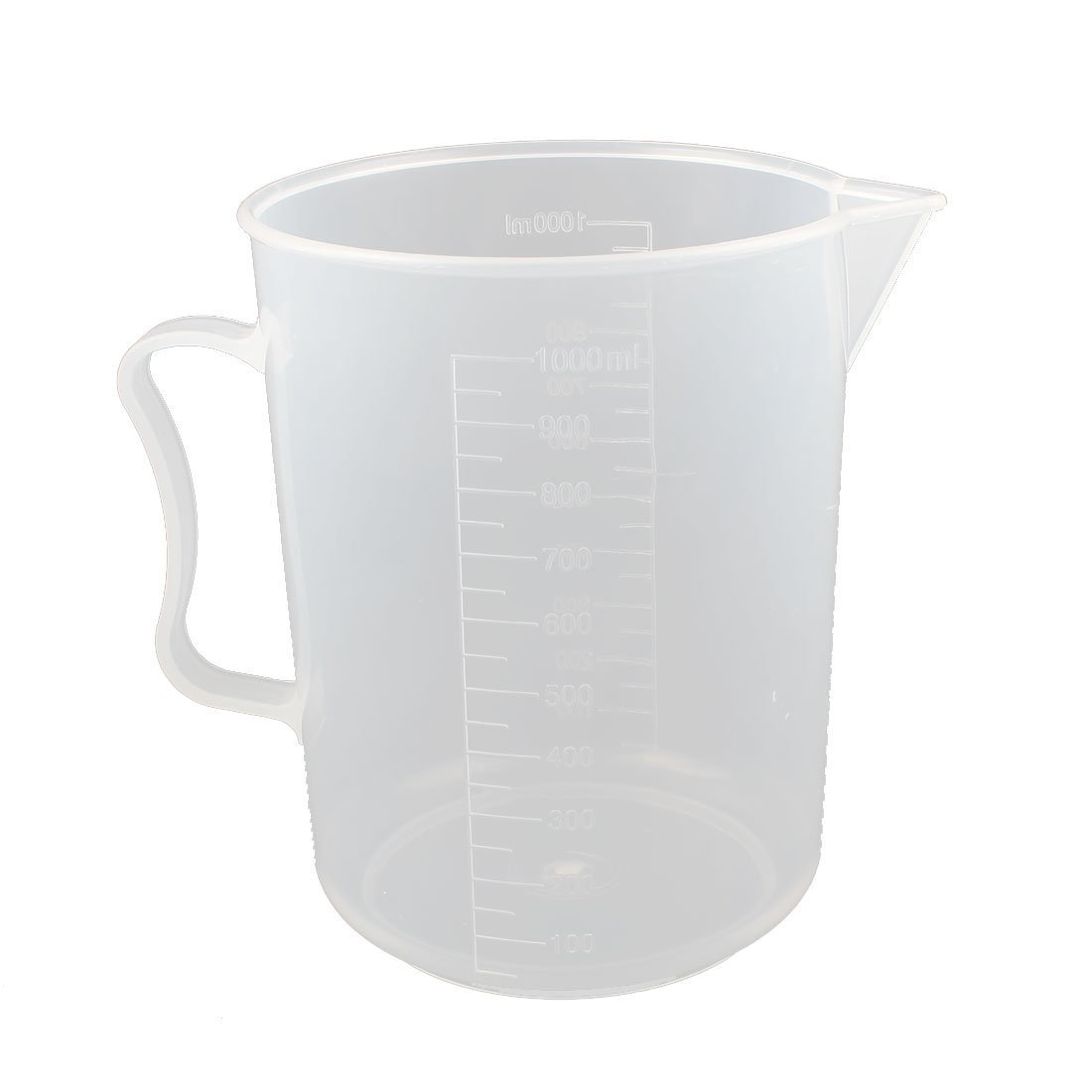 sourcingmap Plastic Lab Test Graduated Measuring Beaker Cup Mug Container Clear a16010500ux0852