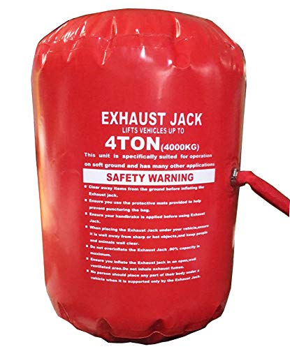 INTBUYING 4.0 Ton Exhaust Jack Air Jack Inflatable Jack Exhaust and Pump Dual Use