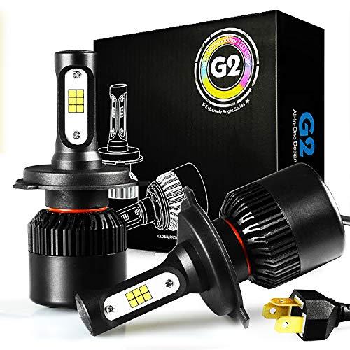 JDM ASTAR G2 CSP Chips H4 9003 All-in-One LED Headlight Bulbs, Xenon White