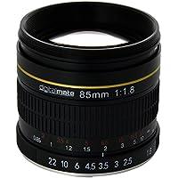 DigitalMate DM85MMC 85-85mm f/1.8-22 Medium-Telephoto Fixed Prime Camera Lens, Black