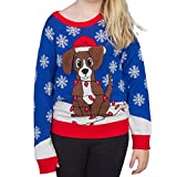 Flappy Dog Animated Puppy Ears Ugly Christmas Sweater (Youth Small)
