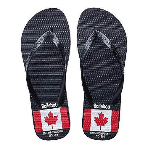 Jack 38 Union Qiusa coloré Flat pour Flops Taille Sandals Femmes Bleu EU Toe Summer Clip Noir Flip 4Bqqg