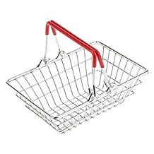 Mini Shopping Hand Basket Storage Basket Toys Red