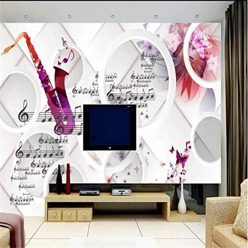 Ansyny カスタムメイド現代のファッションノートテレビの背景の壁カスタムの大規模なフレスコパラ壁画-300X200CM