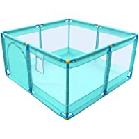 Portable Play Yard Baby Playpen Safety Fence Kids Activity Centre, with Breathable Mesh and Metal Zipper
