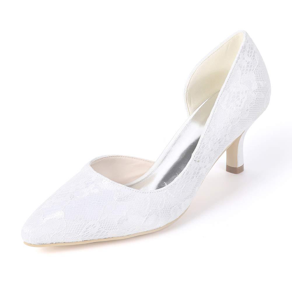 Corte scarpe scarpe scarpe da donna multicolore punta 6cms Mid Block tallone slip on Weding scarpe 6daeea