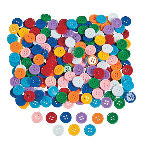 Colored Self Adhesive (1 Lb. Of Awesome Self-adhesive Plastic Buttons (Approx. 800 pcs. per unit))