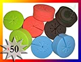 50 pack Cloning Collars Inserts PREMIUM GRADE Foam Better Than Neoprene for Hydroponics Plant Germination in DIY Cloner & Clone Machines (fits 2 inch net pots/cups, BLACK - 50 pack)