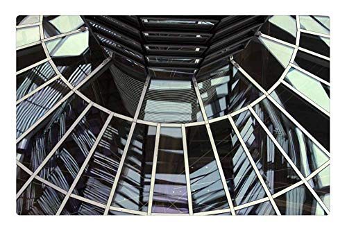 Tree26 Indoor Floor Rug/Mat (23.6 x 15.7 Inch) - Berlin Architecture Reichstag Dome Government
