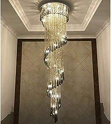 Stainless Steel Ceiling Crystal Chandeliers