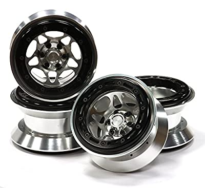 Integy RC Hobby C23066 Alloy Type IX 5S 2.2 Beadlock Wheel Set w/ 12mm Hex for 1/10 Rock Crawler