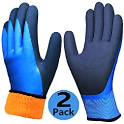 Waterproof Thermal Winter Work Gloves 2 ...