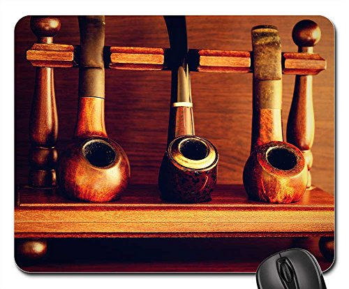 Price comparison product image Mouse Pads - Pipes Tobacco Old Man Rare White Smoke Background