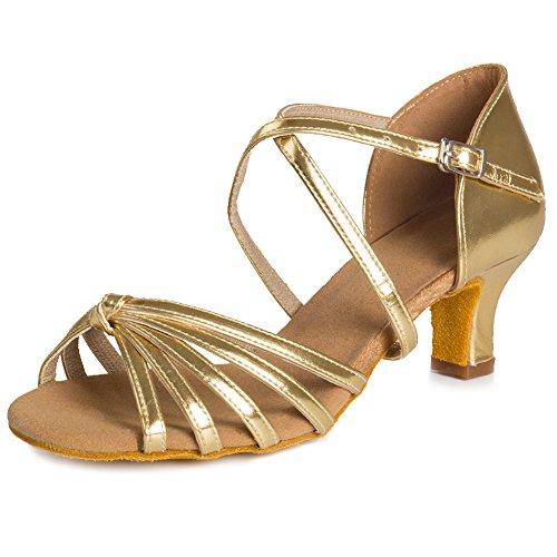 Shoes Dance Ballroom Latin Oro WZJ Dancing HIPPOSEUS Women's Model Shoes Cl 5cm xTqpEBYw